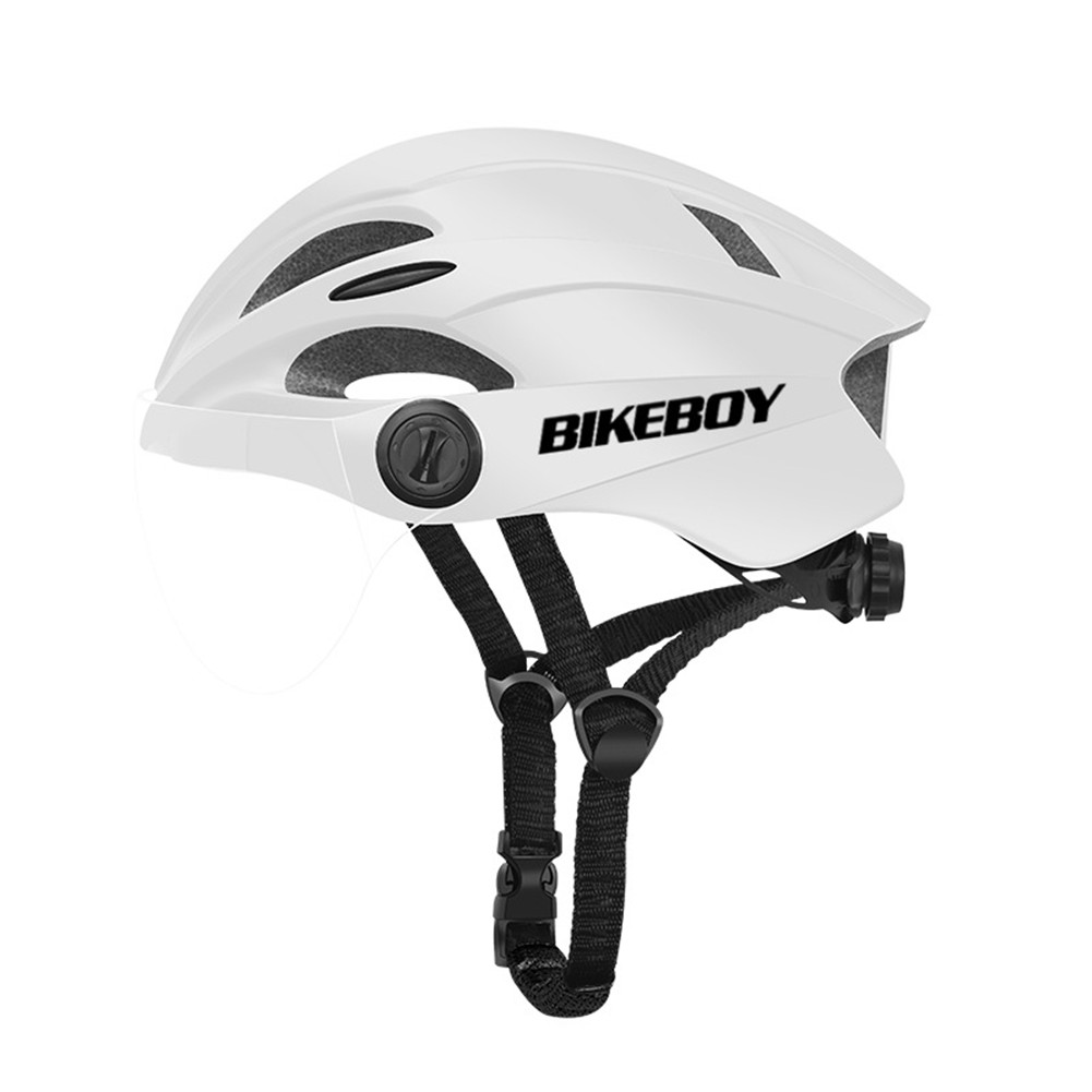 Eps Bicycle Safety  Helmet With Windproof Goggles Motorcycle Electromobile Accessories White