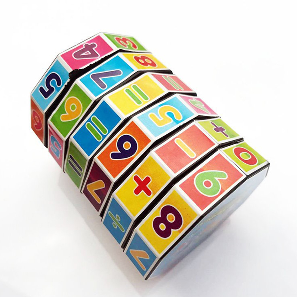 [Indonesia Direct] Cylindrical Plastic Magic Cube Children Puzzle Toy Educational Toy for Kids