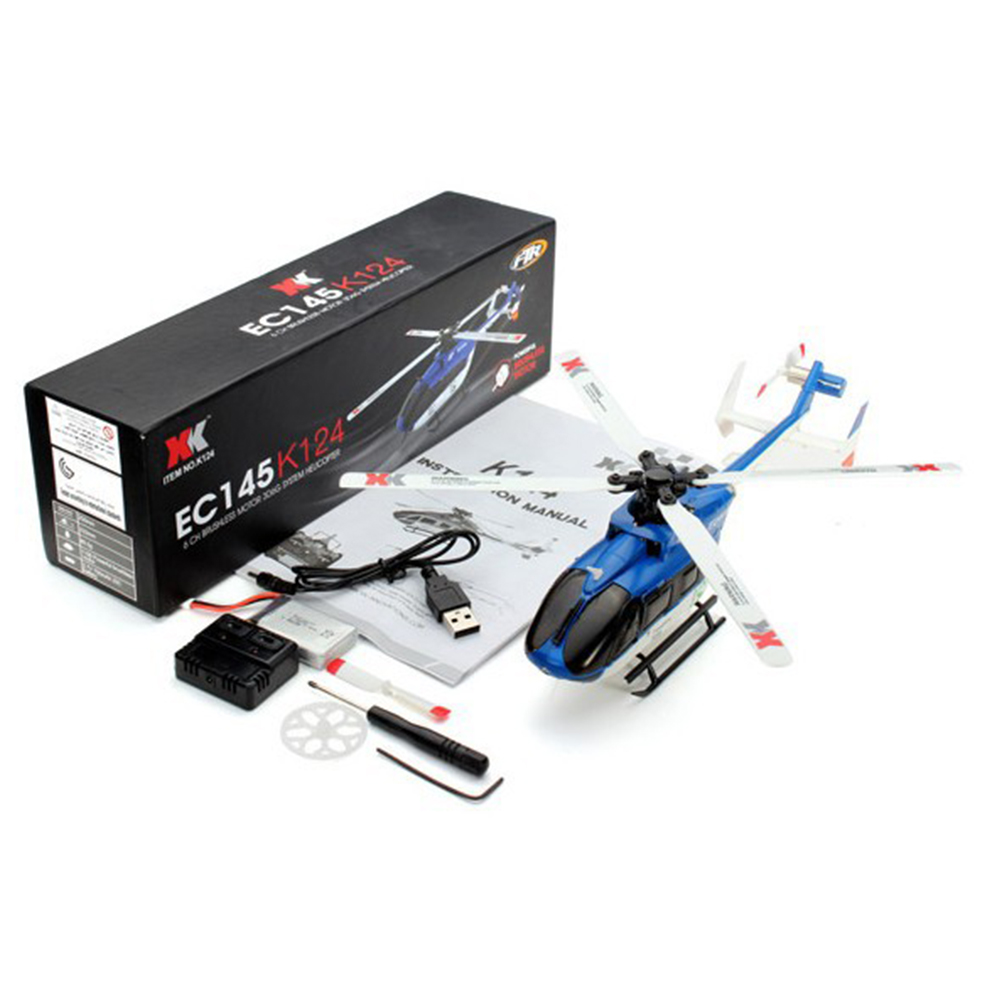 XK K124 RC Drone BNF Without Transmitter 6CH Brushless Motor 3D Helicopter System Compatible with FUTABA S-FHSS BNF