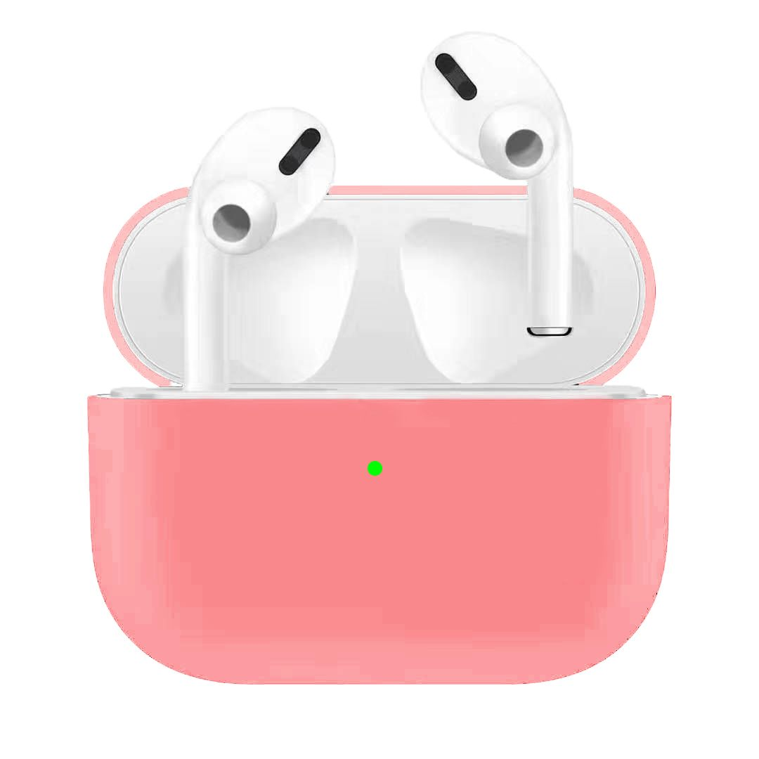 For Airpods Pro Silicone Earphone Case For Airpods Pro Shockproof Cases For Apple Bluetooth Headset Protective Cover Pink