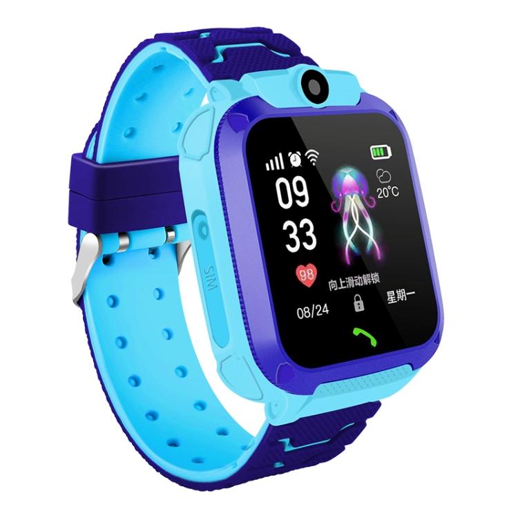 Children Smart Watch Phone Waterproof LBS Smartwatch Kids Positioning Call 2G SIM Card Remote Locator Watch blue