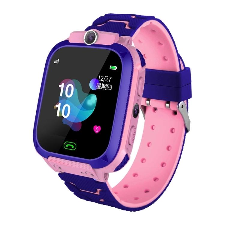 Children Smart Watch Phone Waterproof LBS Smartwatch Kids Positioning Call 2G SIM Card Remote Locator Watch Pink