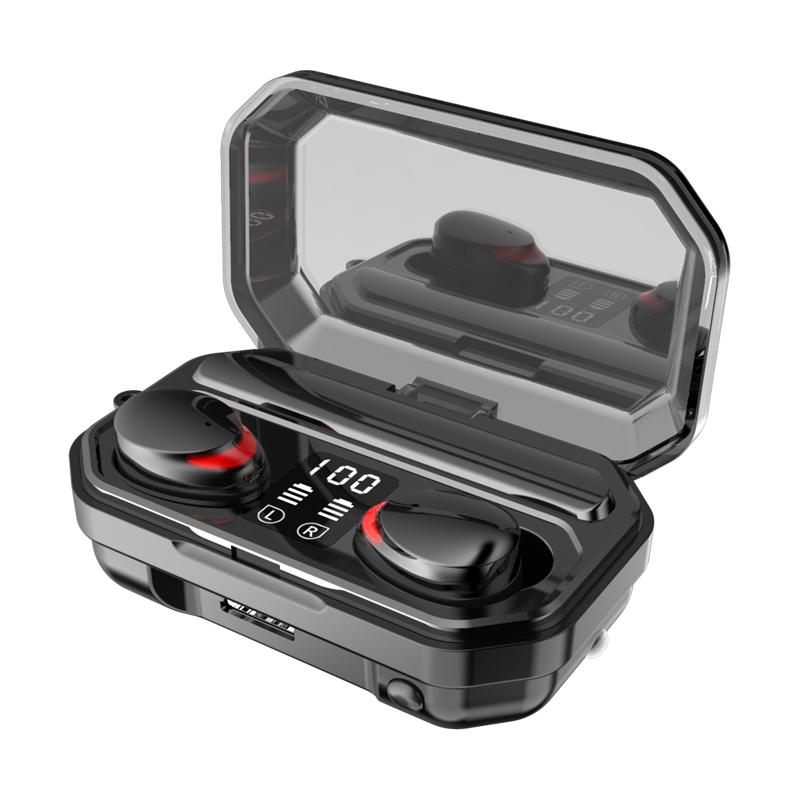 M15 TWS Bluetooth V5.1 Earphone Wireless Headphones Waterproof Sports Stereo Wireless Earphones Touch Bass Headset Mini Earbuds black
