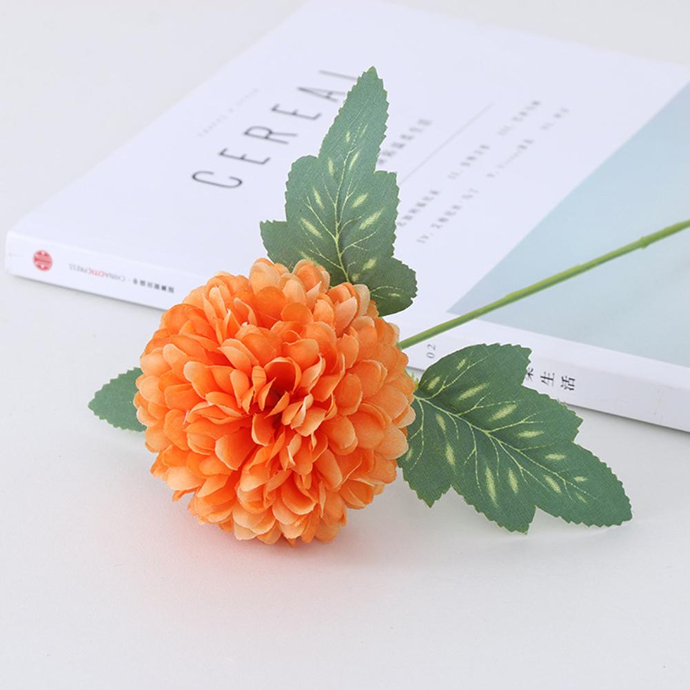 Silk Cloth Artificial Flower Ball Chrysanthemums Oranment Wedding Home  Decoration Orange
