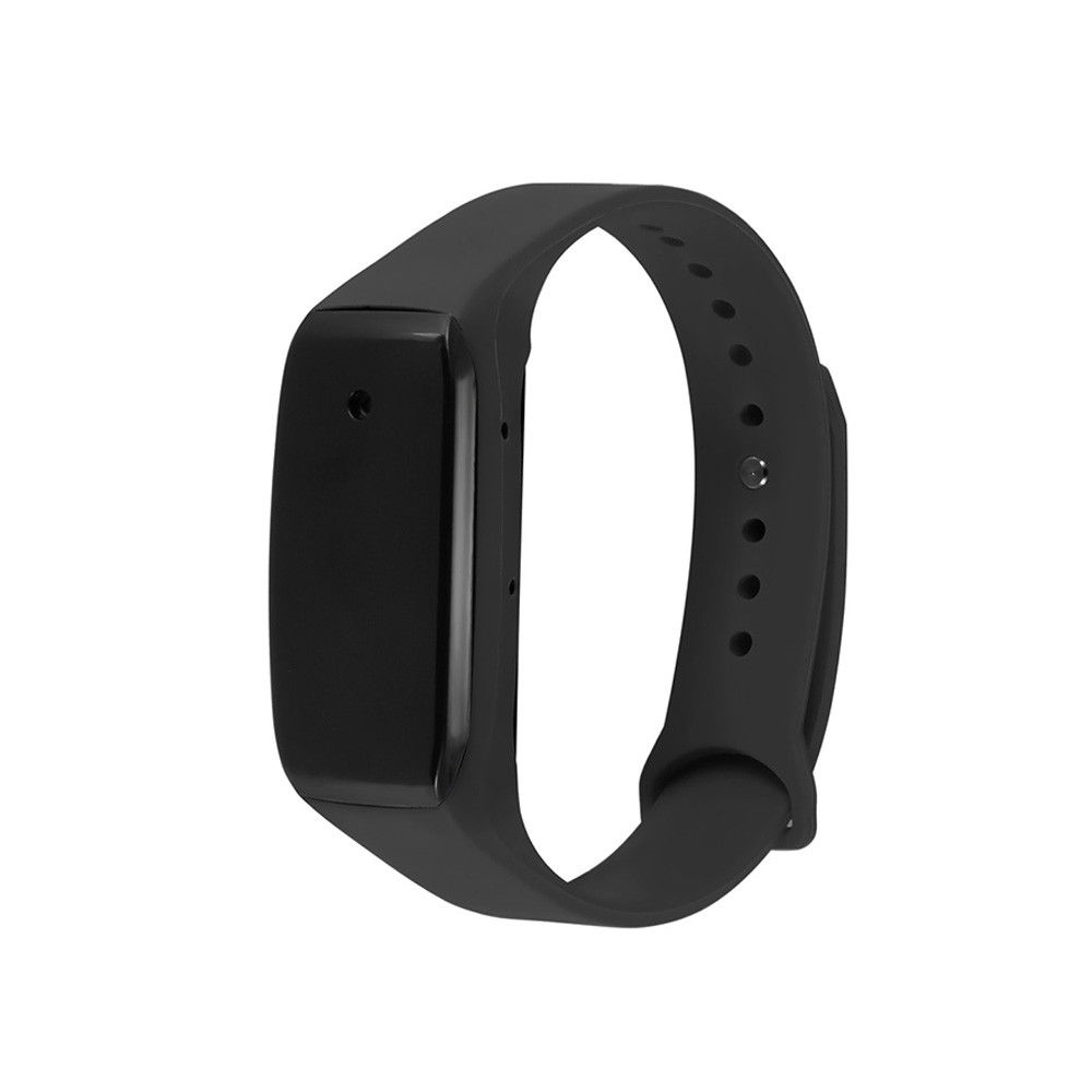 Rechargeable Miniature 1080P HD Audio Video Recorder DVR Wearable Sport Braclet Wristband Black