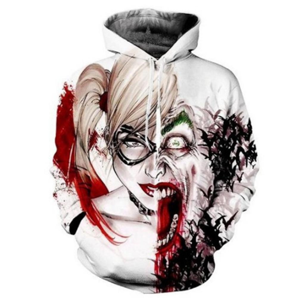 Unisex Fashion Clown 3D Digital Printing Lovers Hoodies clown_S