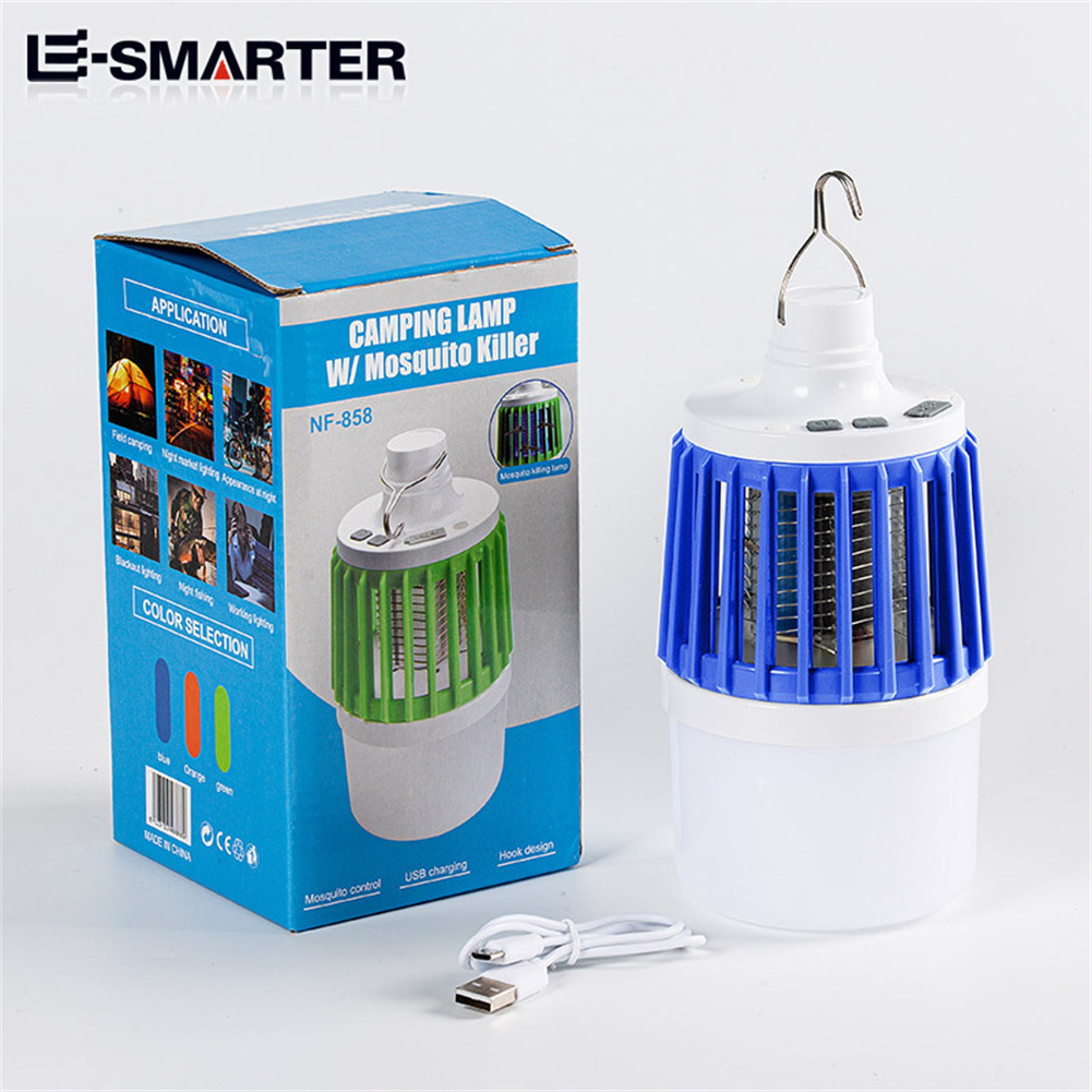 Led Electric Mosquito  Killer Light Outdoor Waterproof USB Rechargeable Mosquito Trap Blue