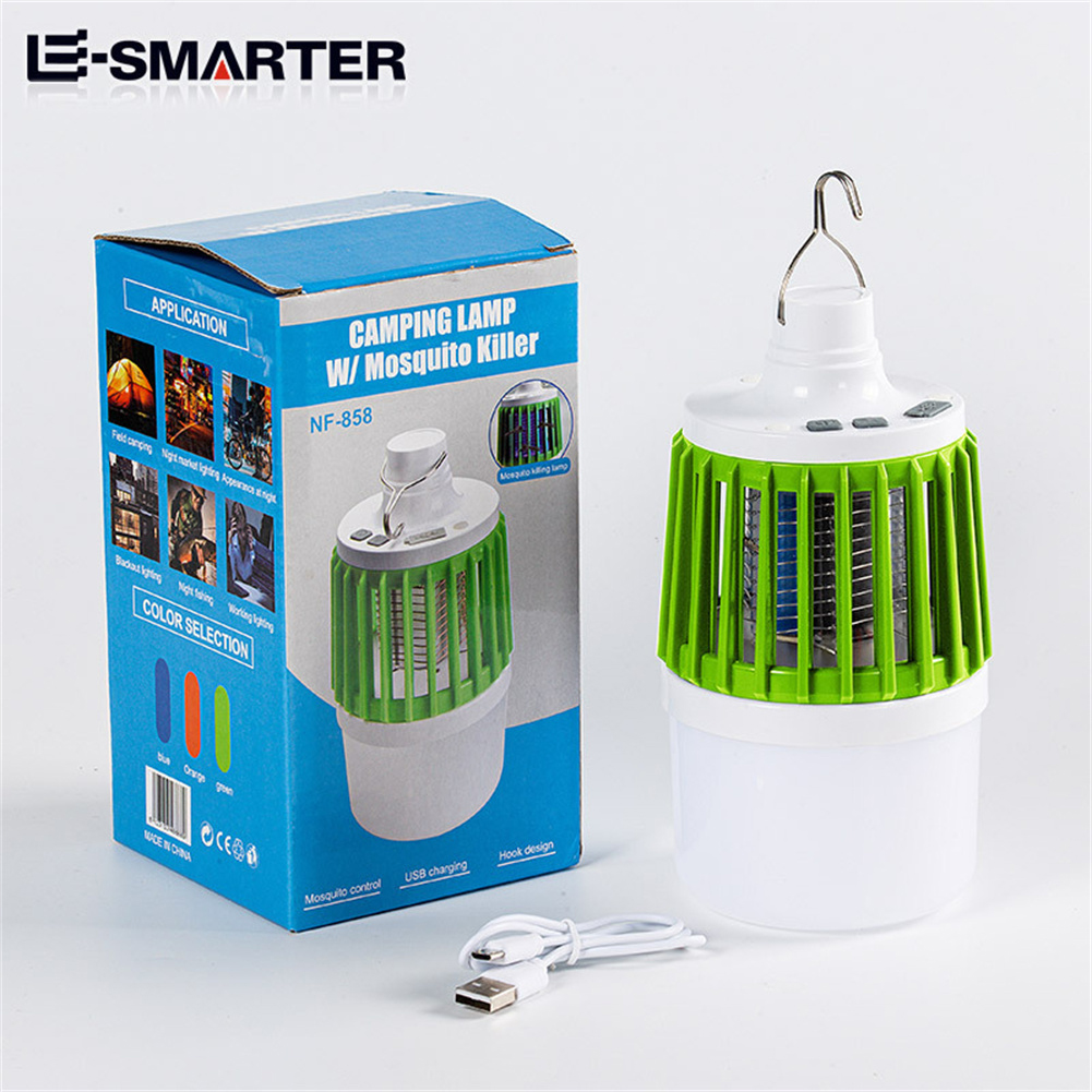 Led Electric Mosquito  Killer Light Outdoor Waterproof USB Rechargeable Mosquito Trap Green