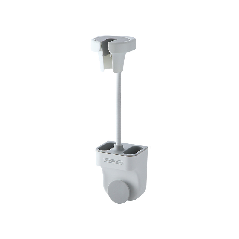 Punch-free Universal Shower  Bracket Adjustable Shower Holder Bathroom Accessories Shower bracket Nordic grey