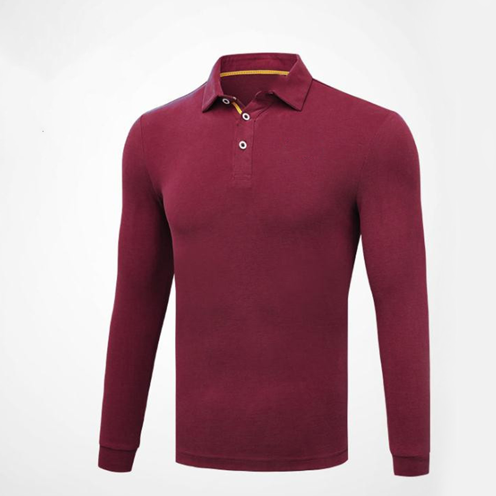 Golf Clothes Male Long Sleeve T-shirt Autumn Winter Clothes for Men YF148 red_M