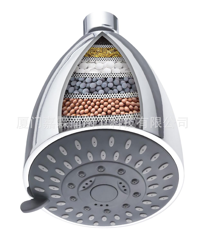 Shower  Head  Filter  Cartridge Kit Water Purifier For Shower Top Sprayer Silver