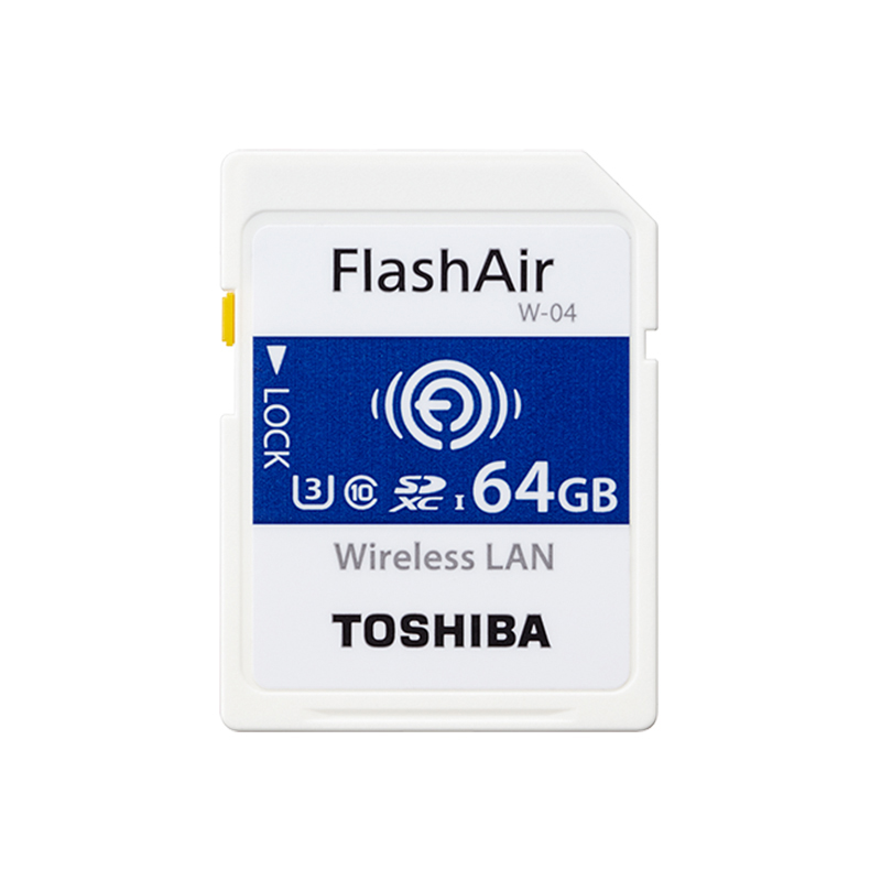 TOSHIBA Flash Air W-04 Memory Card 64GB