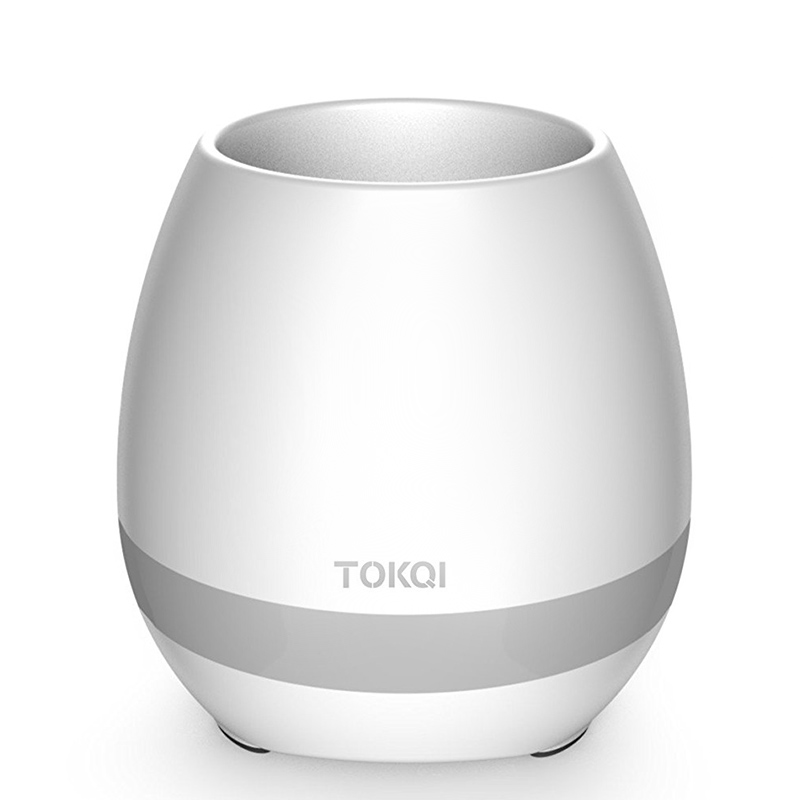 TOKQI Smart Flowerpot - Bluetooth Speaker, 90dB, 1200mAh, Color Light, Use Your Flower As A Musical Instrument