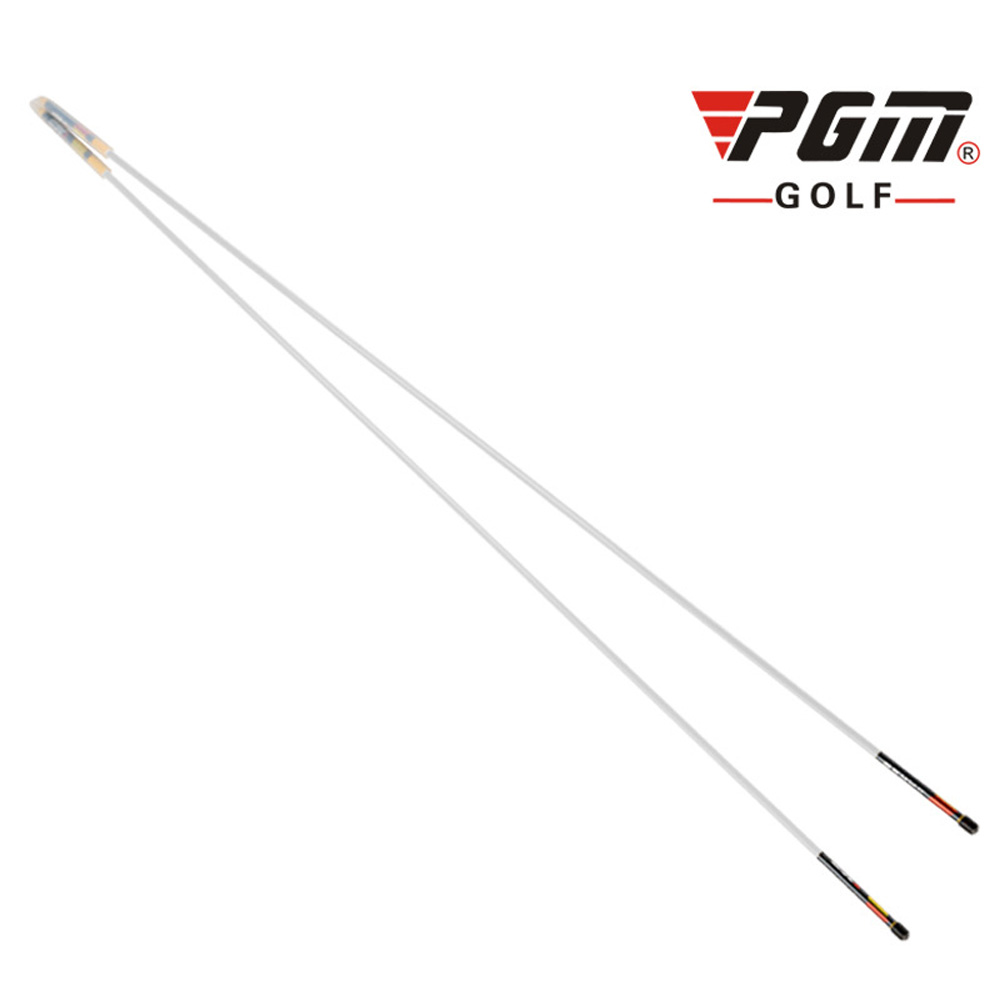 Golf Assist Swing Turn Shoulder Stick Posture Corrector Putting Rod white
