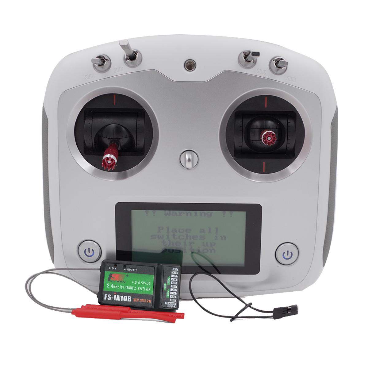 Flysky FS-i6S 2.4G 10ch RC Transmitter Controller w/ 6ch FS-iA6B Receiver or 10ch FS-iA10B receiver white_FS-i6S+IA10B