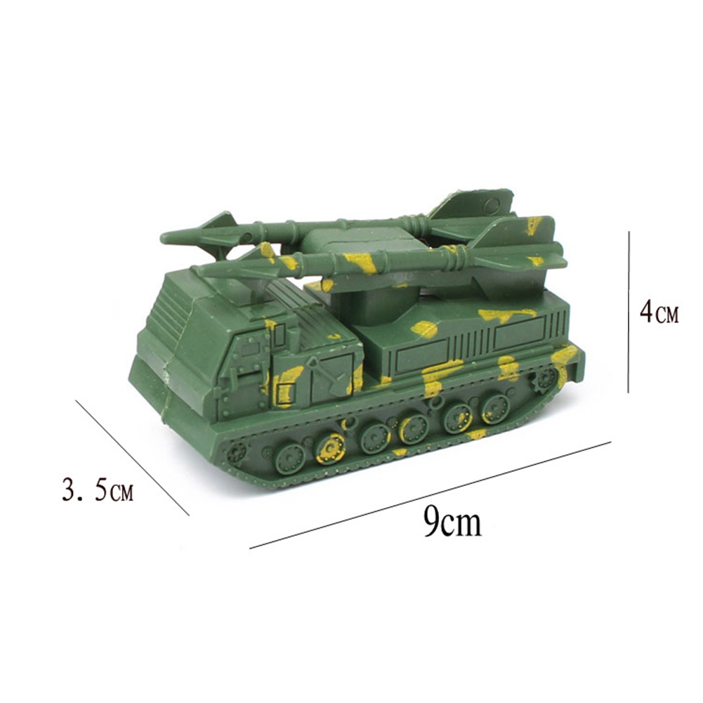 Kids Simulate Vehicle Toy Psychological sand Table Prop Double gun armored vehicle