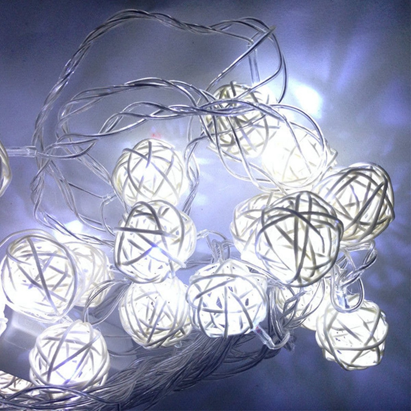 Solar Powered String Lights,20ft 30 PCS LED Waterproof Fairy Christmas Lights  Multicolor