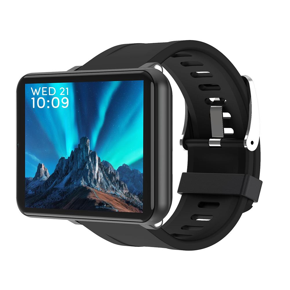 LEMFO LEMT 4G Smart Watch 2.8 Inch Big Screen 2700MAH 5 Million Pixels GPS Call Watch Black (3+32G)
