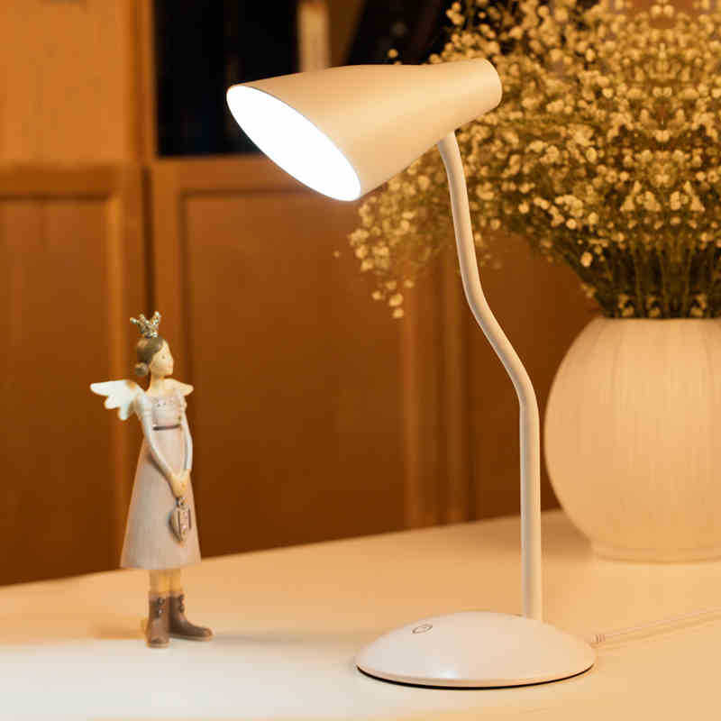 Elegant USB Charged LED Table Lamp with Clip Eye-Protection Study Reading Light Festival Gift