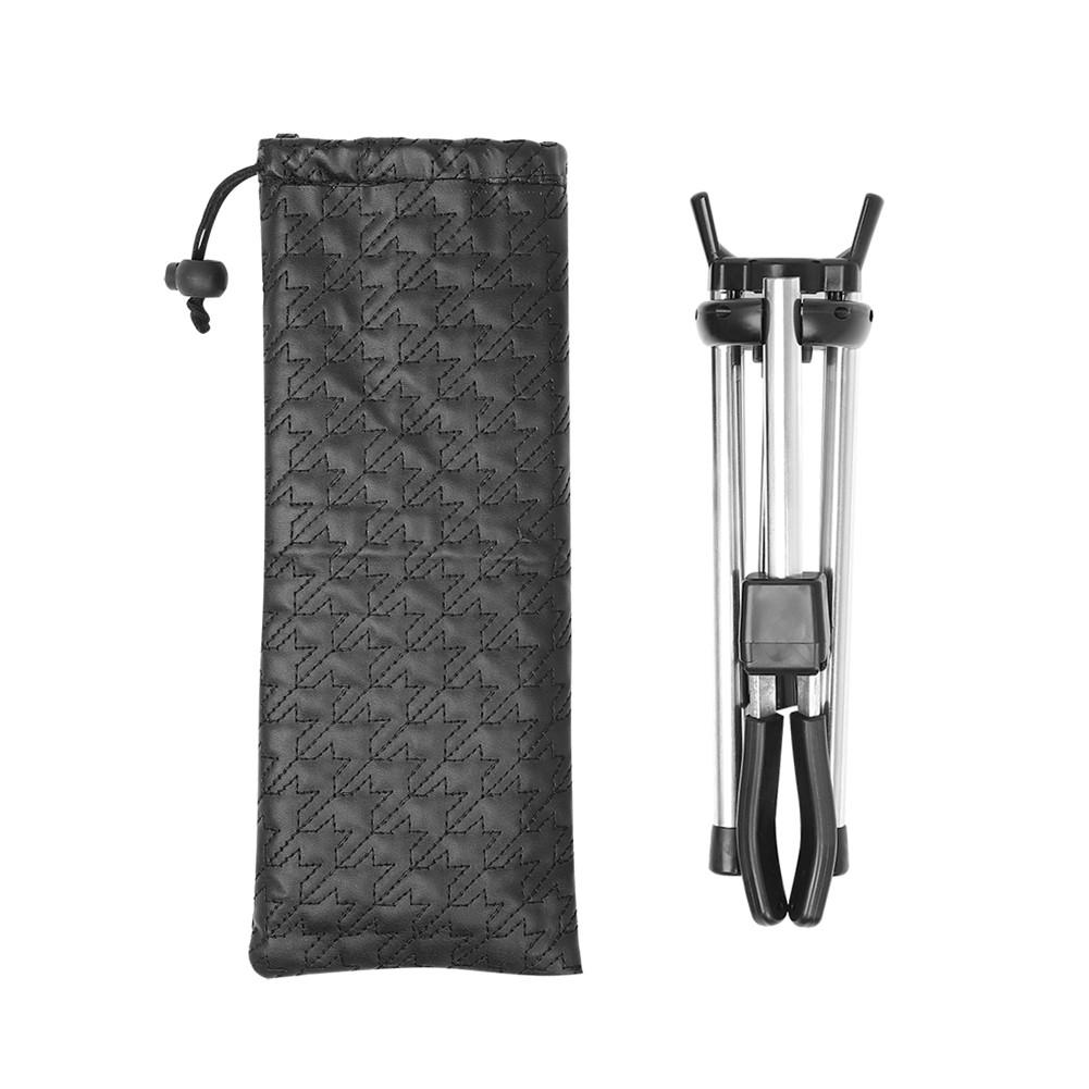 LD-126 Alto Saxophone Musical Universal Sax Portable Holder Foldable Saxophone Bracket Adjustable Stand Instruments Accessories (leather bag) black