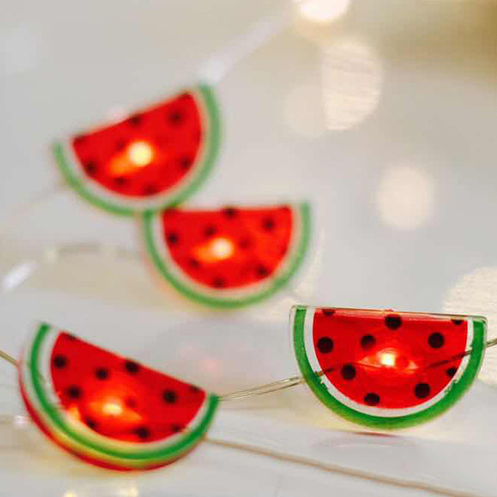 20LEDs Watermelon Shape String Light Copper Wire Garden Lamp Kids Room Decoration