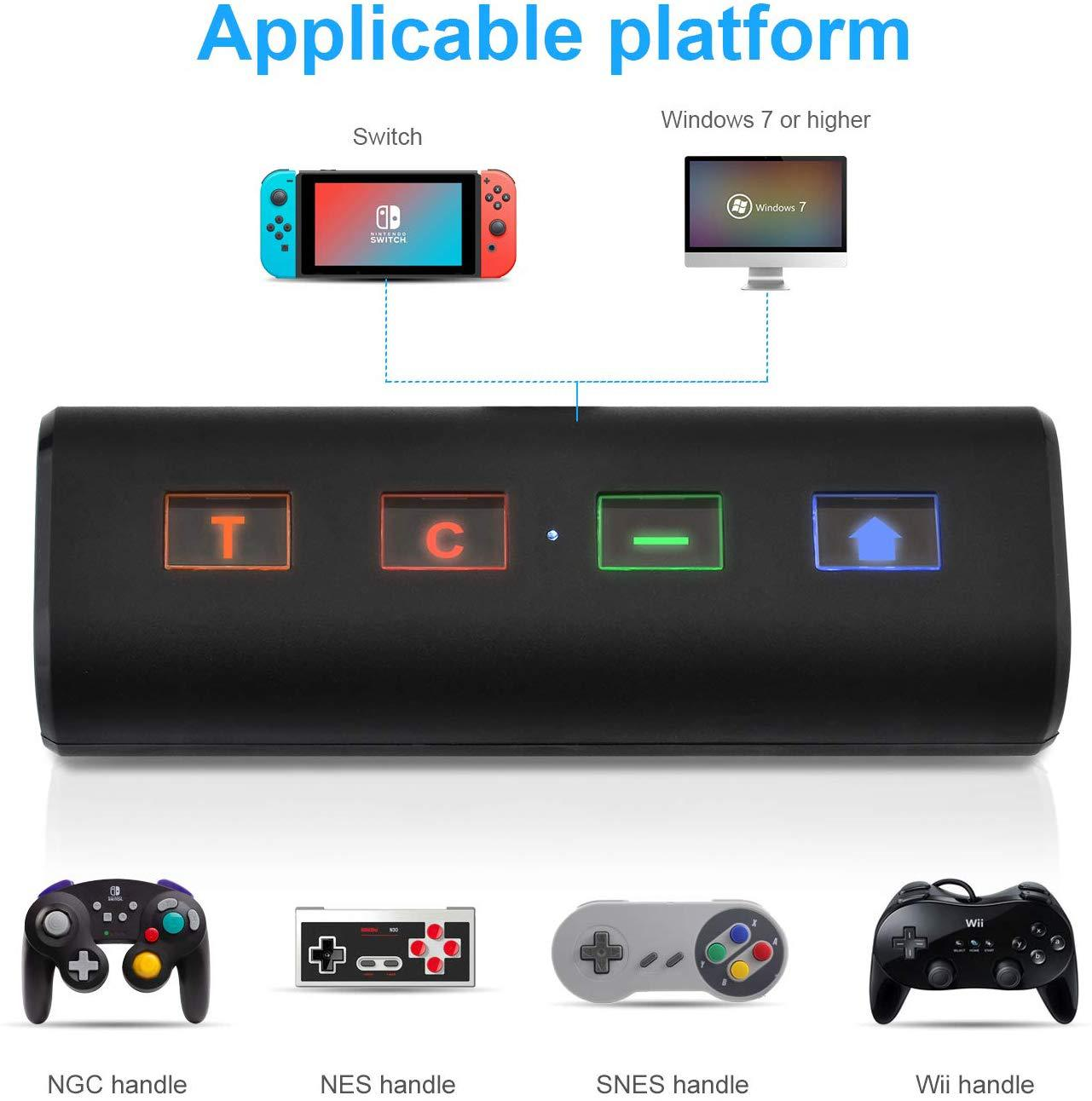 Bluetooth Converter For Nintend Switch Cube NGC/WiiU/NES Audio Transmitter Low Latency Adapter black