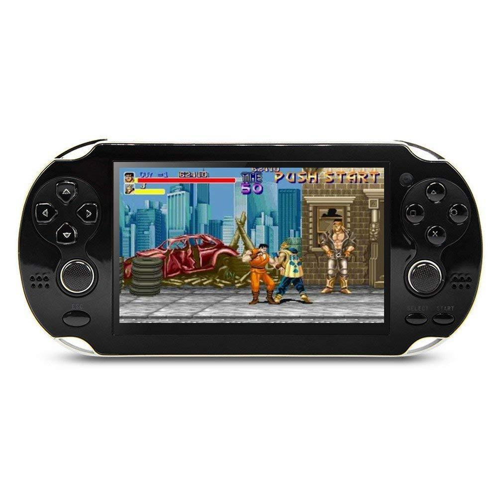 MP5 4.3 Inch Screen 8GB Multi-language Handheld Game Player Palm Game Machine black