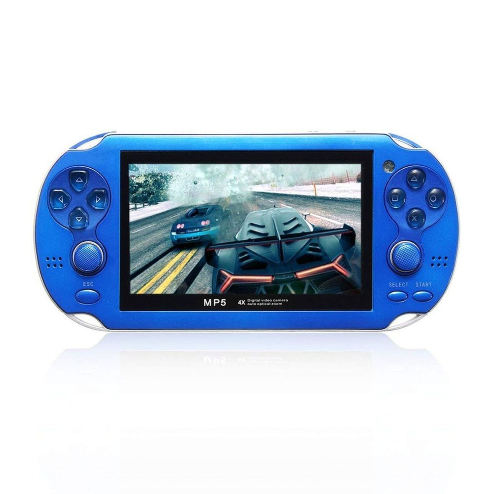 MP5 4.3 Inch Screen 8GB Multi-language Handheld Game Player Palm Game Machine blue