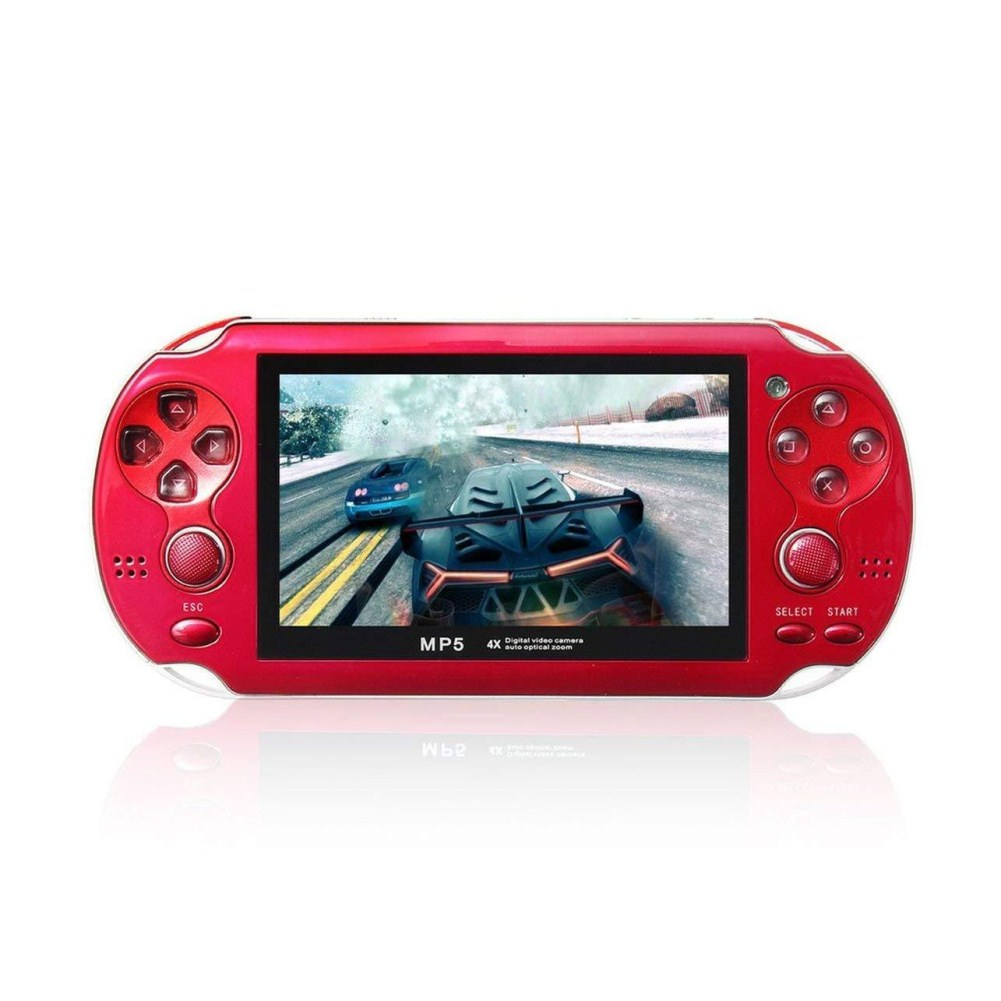 MP5 4.3 Inch Screen 8GB Multi-language Handheld Game Player Palm Game Machine red
