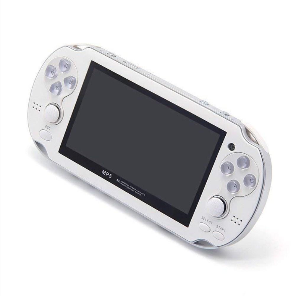 MP5 4.3 Inch Screen 8GB Multi-language Handheld Game Player Palm Game Machine white