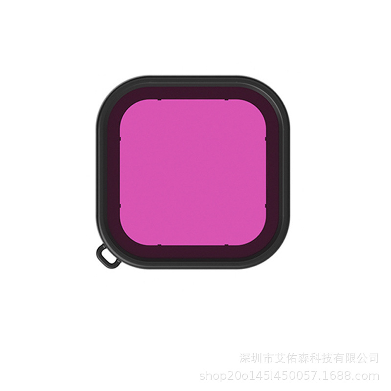Waterproof Case Filter for GoPro Hero8 Camera Diving Screen Protective Film with Strap  purple