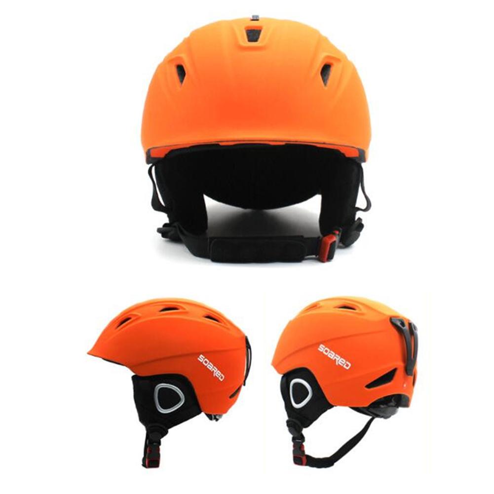 EPS Combo Kids Snow Helmet Matching Goggles Head Protector Skateboard Helmet Warm orange M