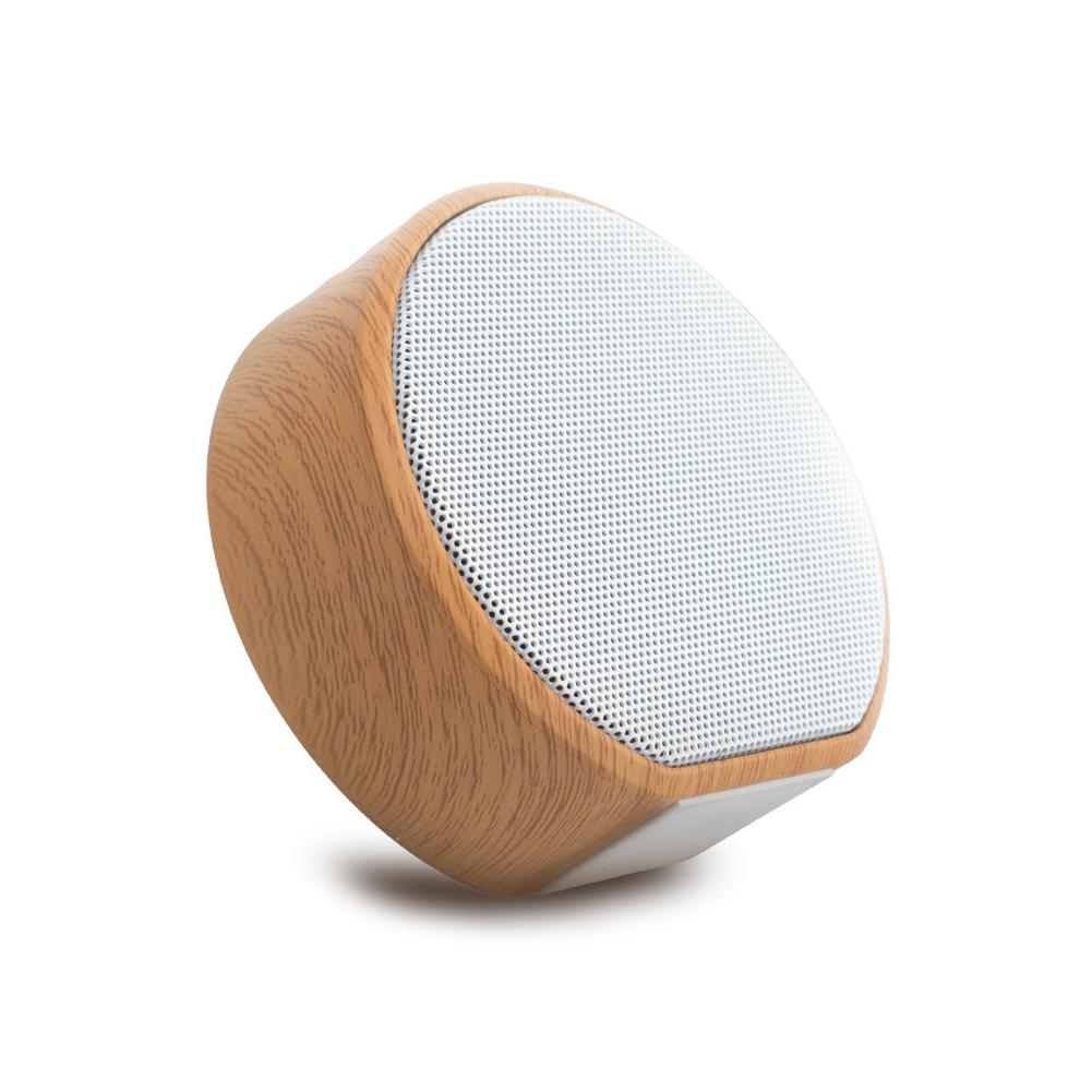 Mini Bluetooth Wireless Wood Grain Speaker Support TF Card Portable HiFi Stereo Speaker for Mobile Phone Wood grain speaker white #Y1-YM-02D_Official standard