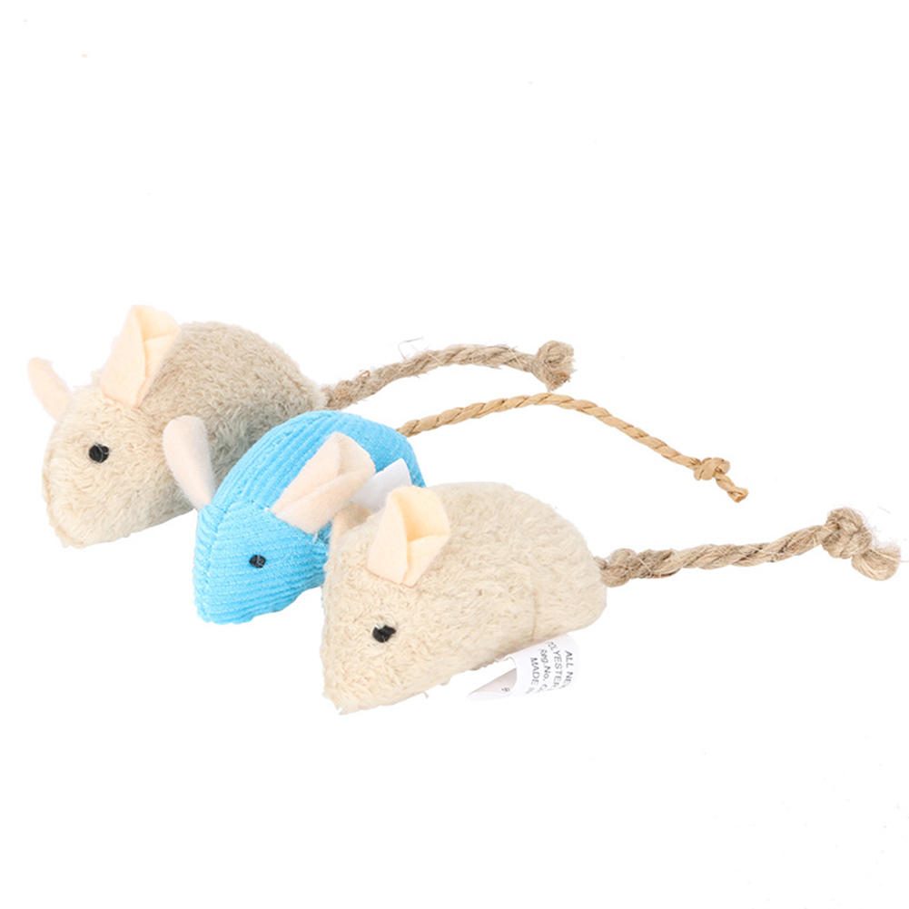 3Pcs Simulate Plush Mouse with Catnip Interactive Trainning Pet Toys for Cats 3pcs