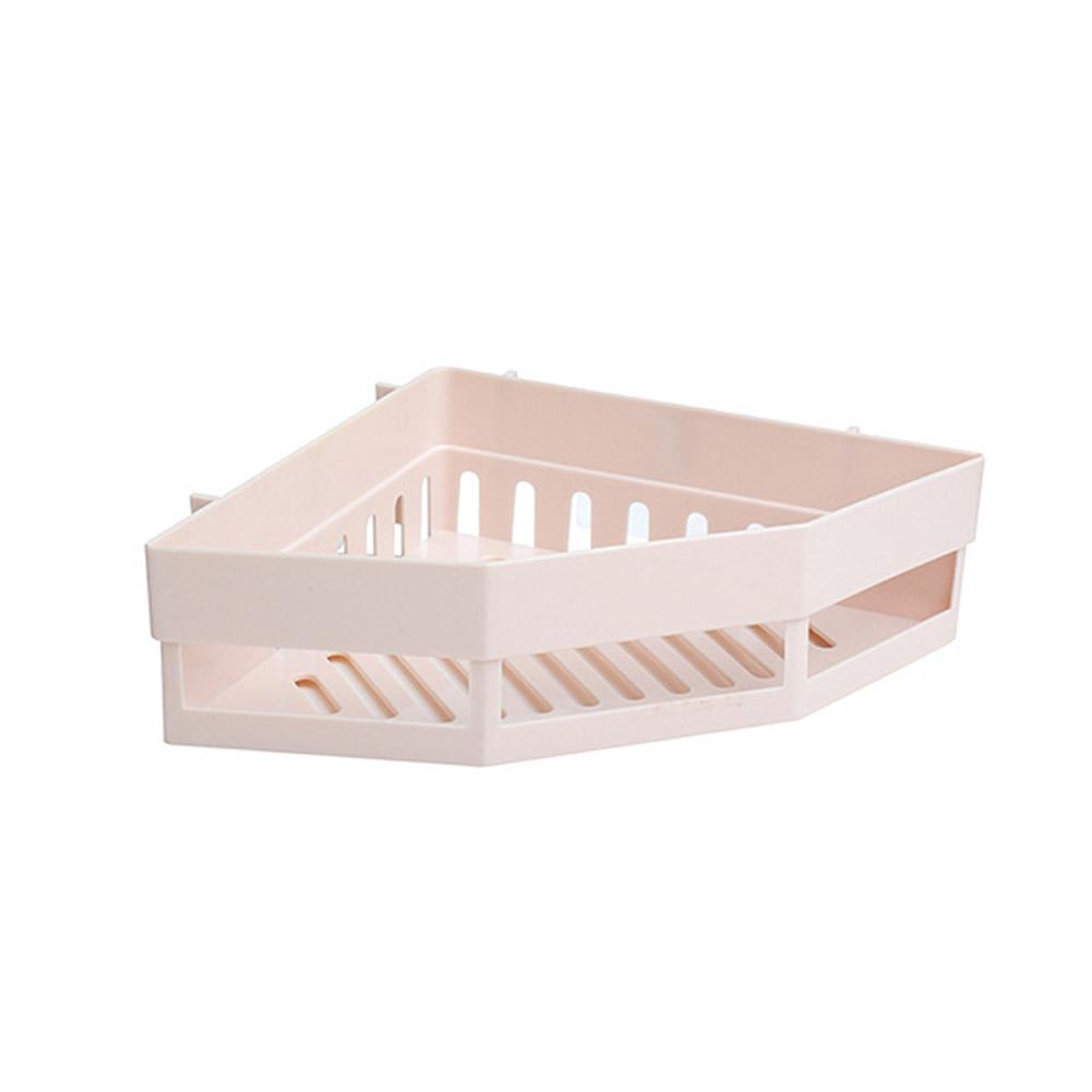 Triangular Nail-free Wall Mounted Bathroom Storage Rack  Beige