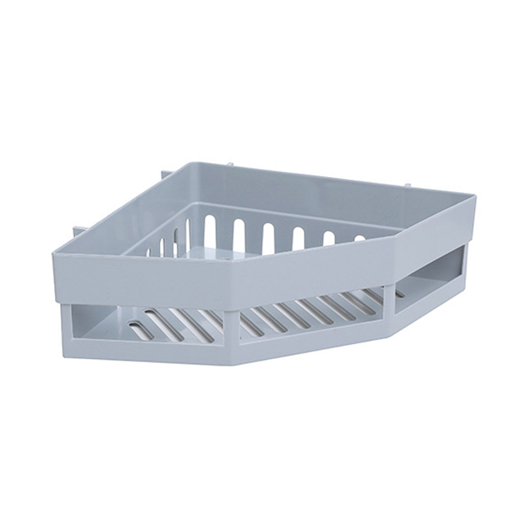 Triangular Nail-free Wall Mounted Bathroom Storage Rack  gray