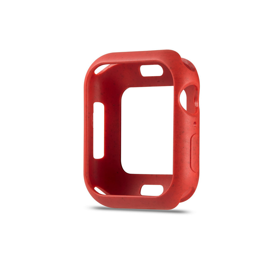 For Apple iWatch 5 Generation Protective Cover Macaron Color Apple Watch 4 Brilliant red_38mm