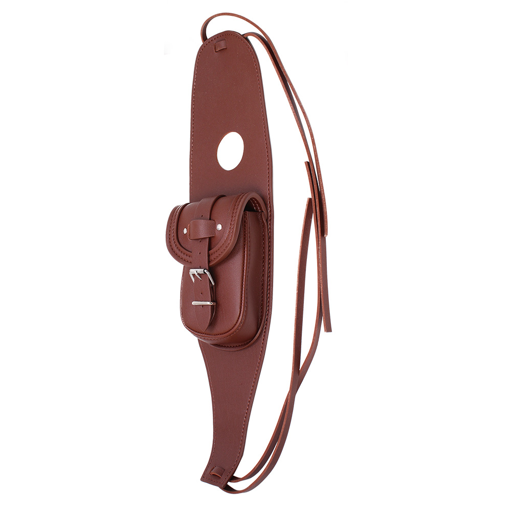 Motorcycle PU Leather Fuel Tank Panel with Pouch for  Sportsterfor  Sportster brown