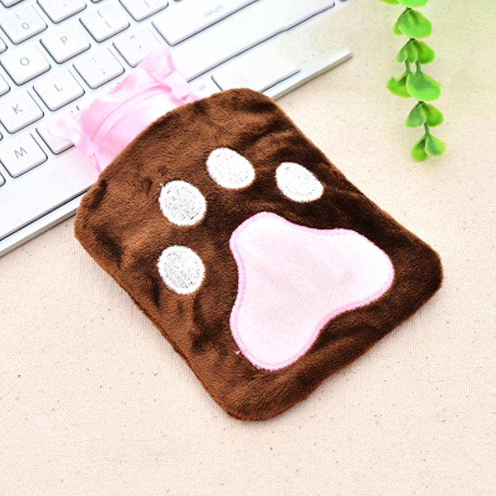 Cute Cartoon Warm Water Bag Explosion-proof Plush Cover Hand Warmer  About 14.5x10.5
