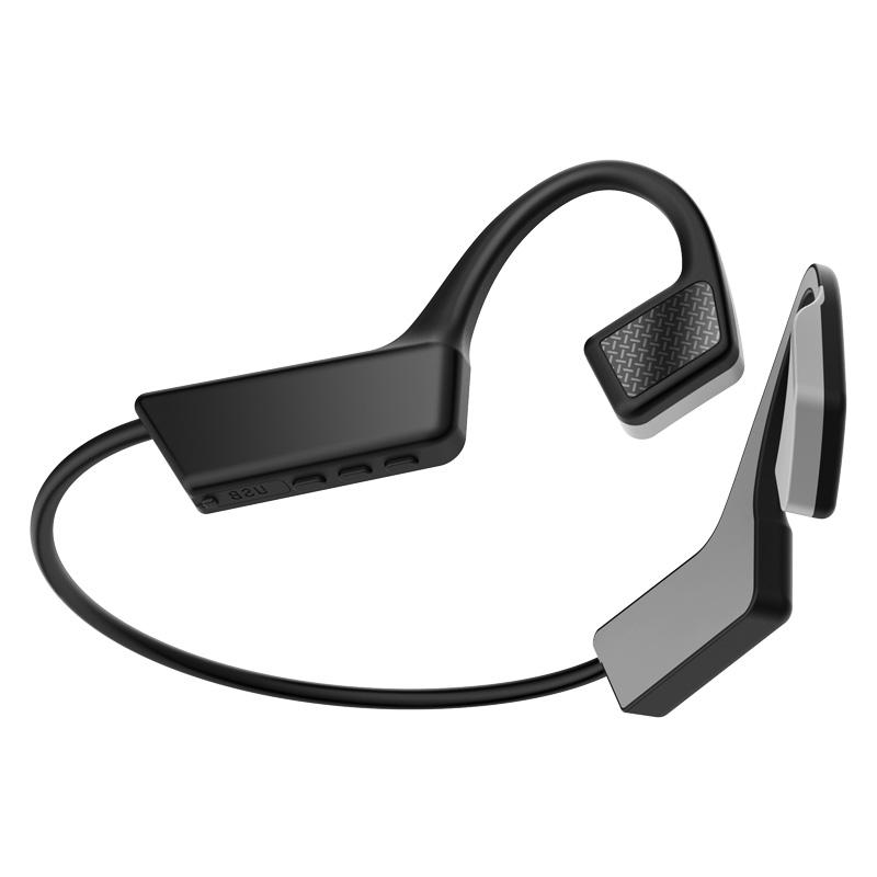 Bone Conduction Earphone TWS Wireless Bluetooth 5.0 Not In-Ear Earbuds Sport Waterproof Headphone dark grey