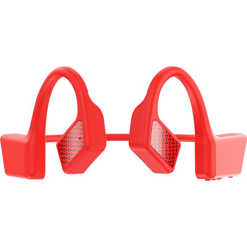 Bone Conduction Earphone TWS Wireless Bluetooth 5.0 Not In-Ear Earbuds Sport Waterproof Headphone red