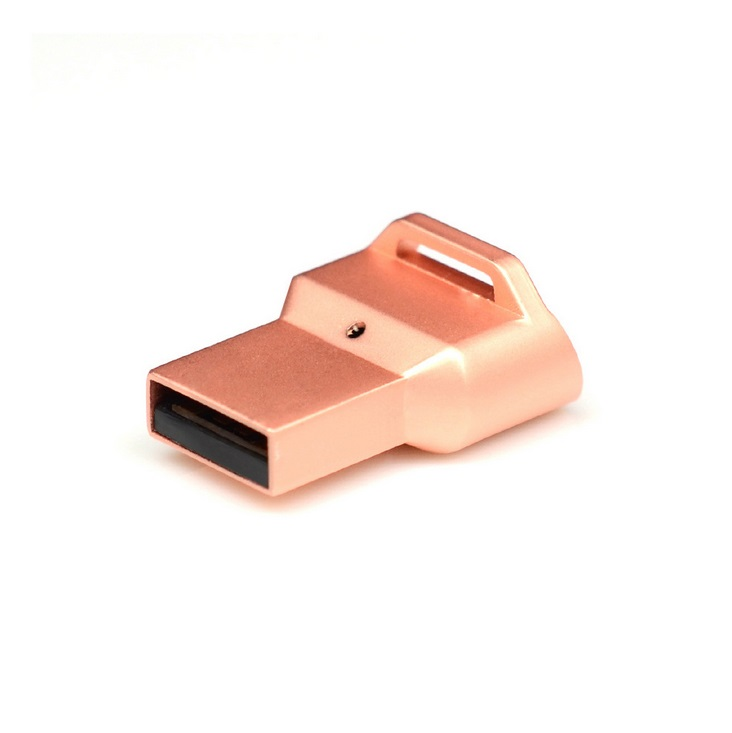 Secure PC Laptop USB Fingerprint Reader Keyless Password Security Lock for Notebook with Windows 10 or Higher System Rose gold