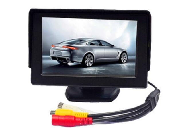 4.3 Inch Mirror Monitor w/ Touch Buttons