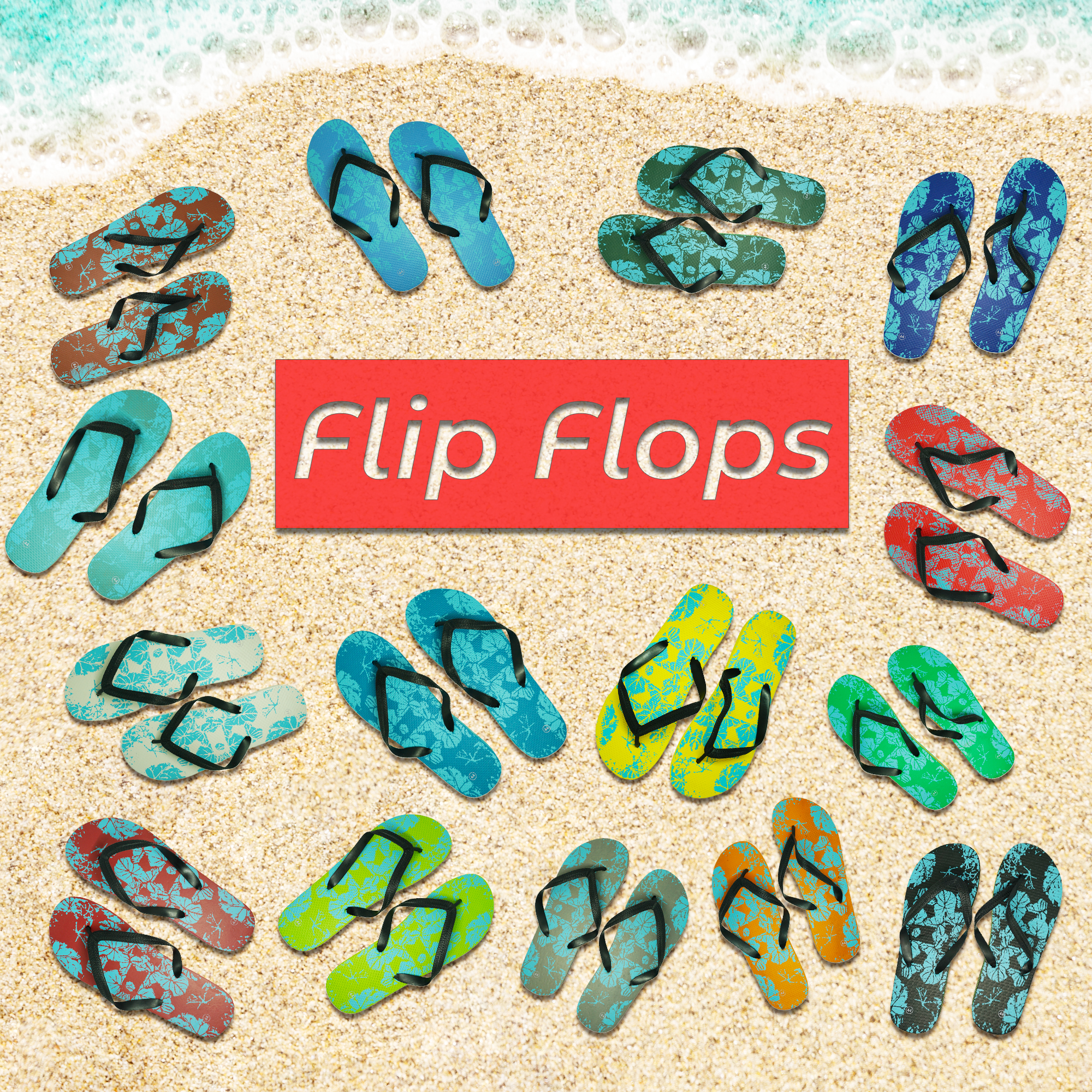 Fashion Home Pinch Non-slip Beach Flops Home Slippers 40/26.5cm_Mixed color
