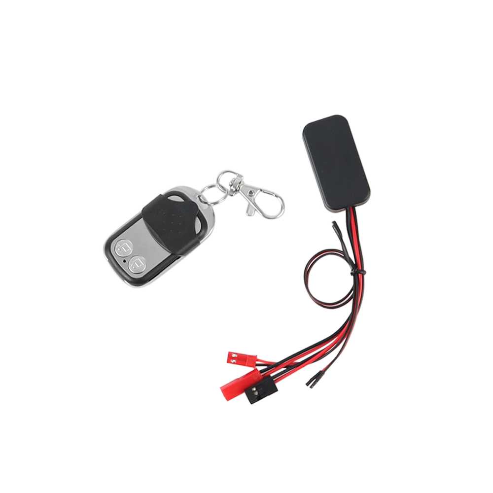 RC Car Winch Wireless Remote Control Receiver for 1/10 RC Crawler Axial SCX10 Traxxas TRX4 RC4WD D90 TF2 Tamiya CC01 JST + Dupont version