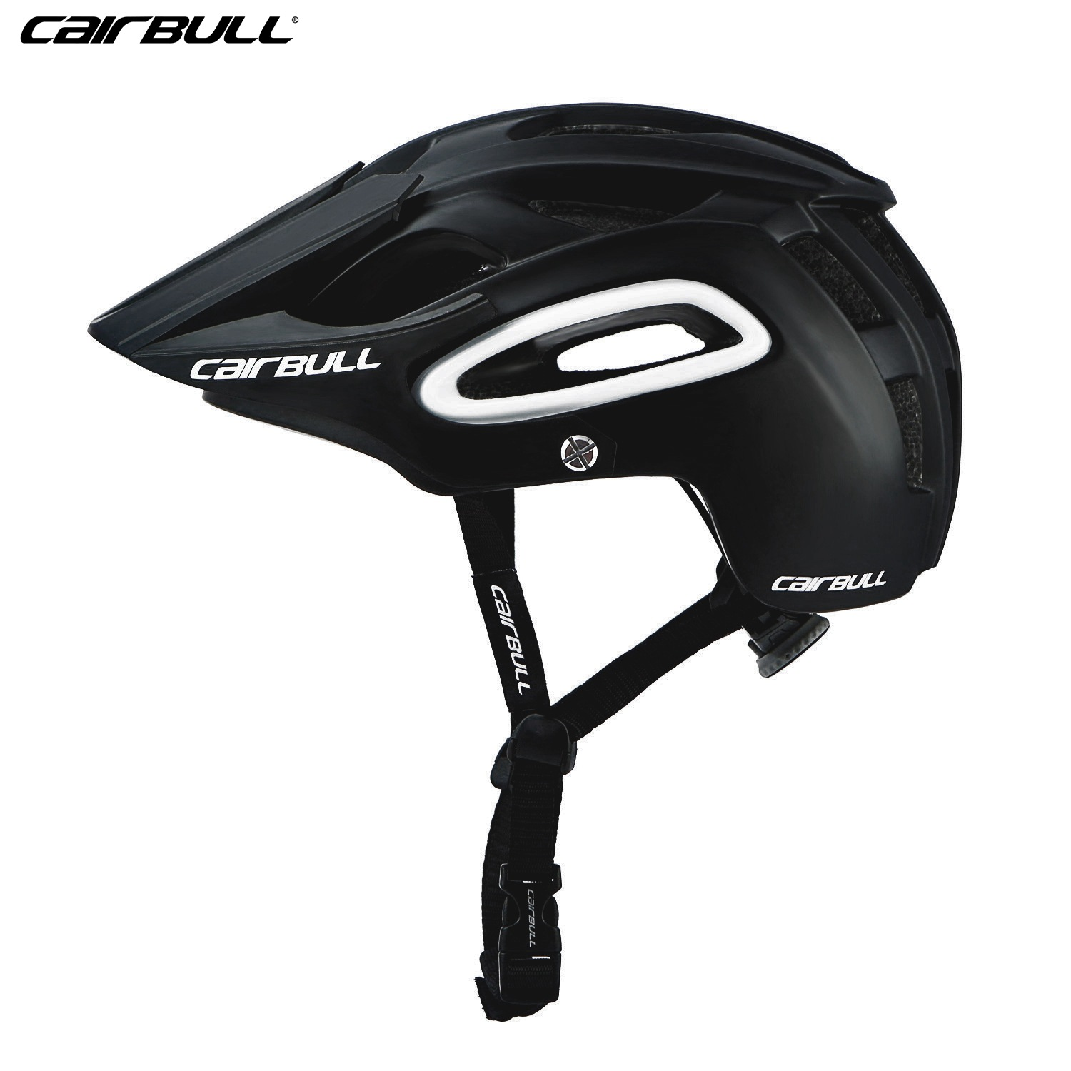 Shock-proof Bicycle Helmet Integrated Molding Breathable Cycling Helmet for Man Woman black_M (54-58CM)