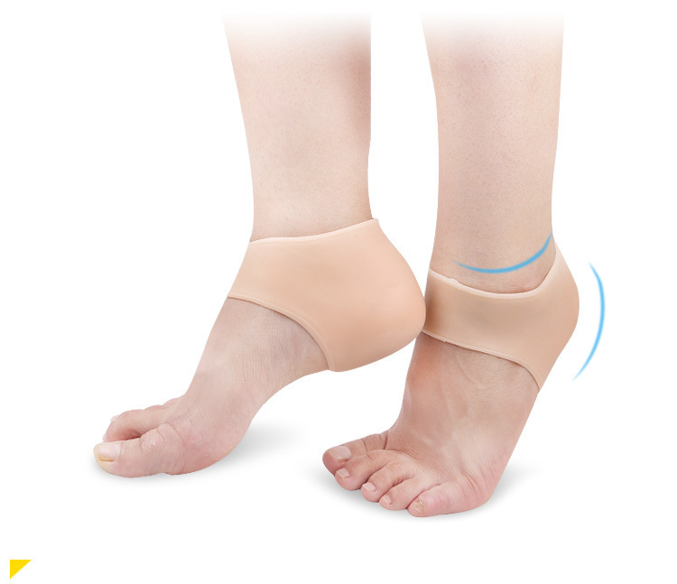1Pair Silicone Comfortable Shoes Practical Gel Heel Sleeve Moisturizing Heel Protectors  skin color_One size
