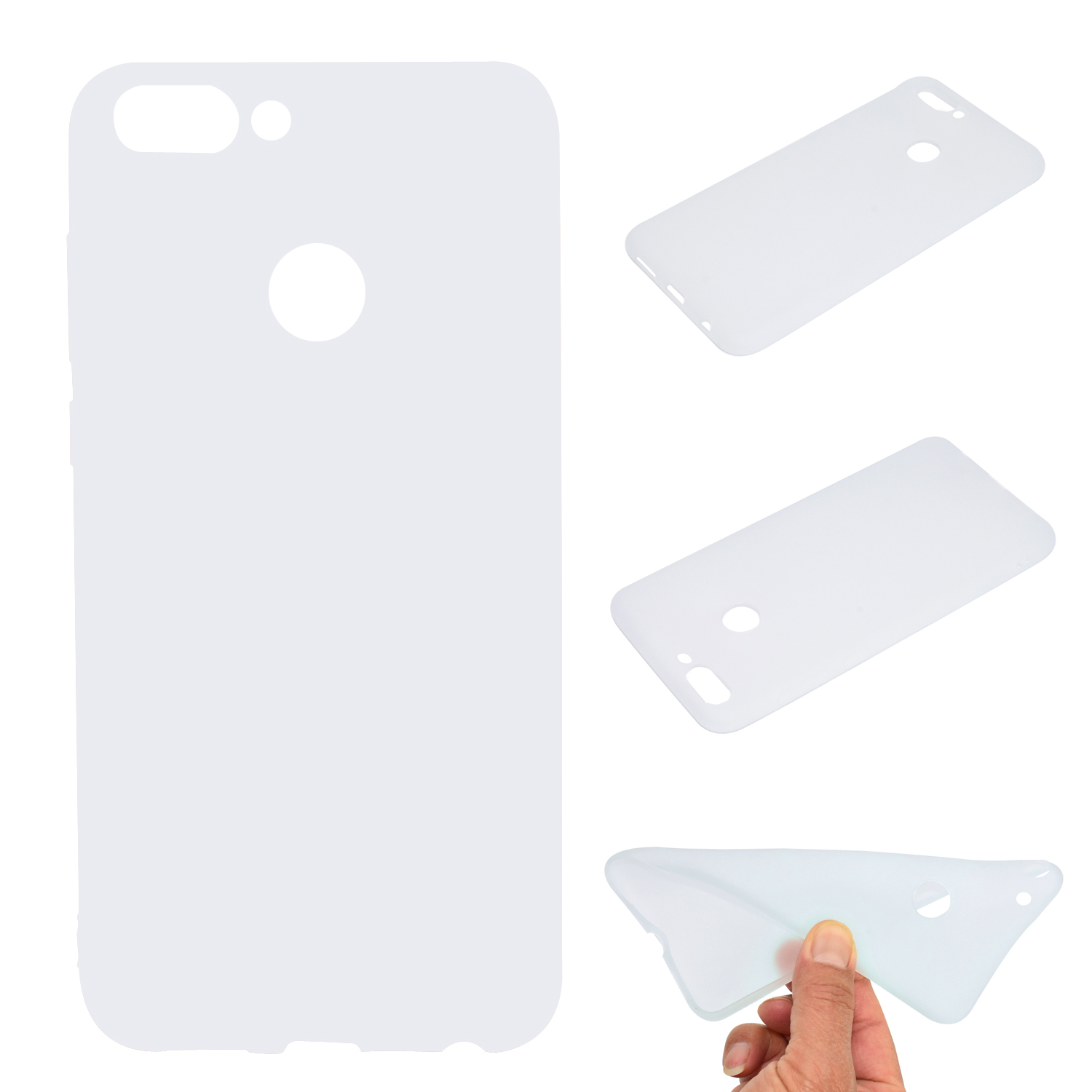 for HUAWEI Honor 9 lite Cute Candy Color Matte TPU Anti-scratch Non-slip Protective Cover Back Case white