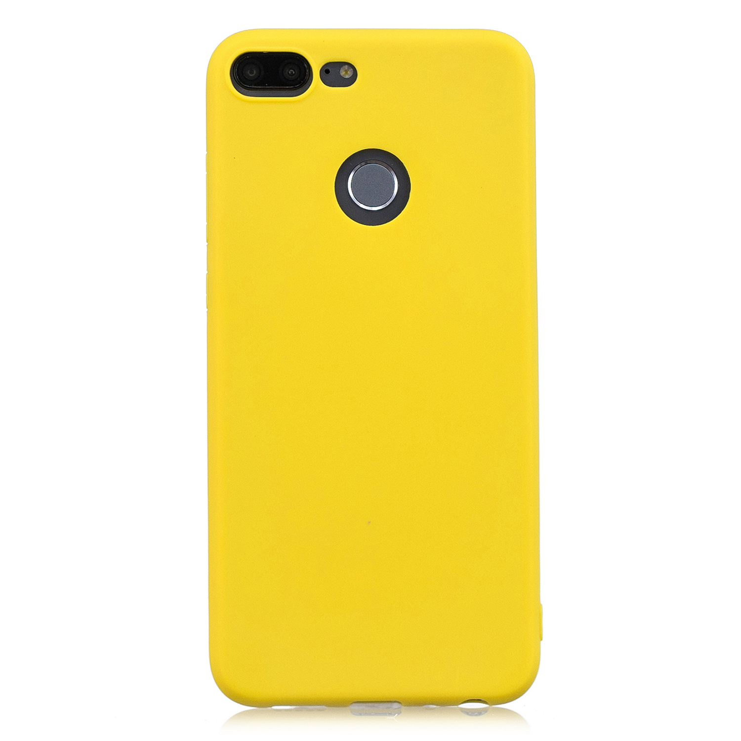for HUAWEI Honor 9 lite Cute Candy Color Matte TPU Anti-scratch Non-slip Protective Cover Back Case yellow