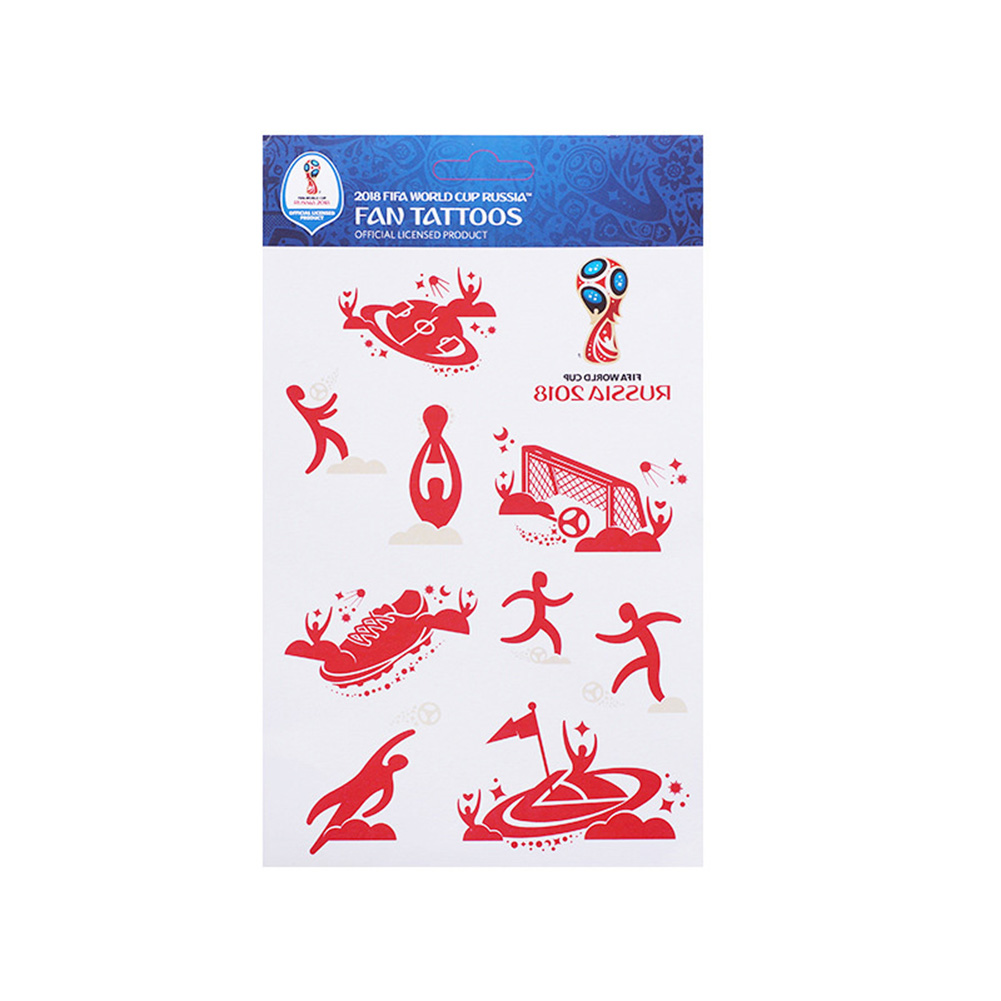 2018 Russia World Cup Tattoo Sticker Football Game Face Decor